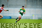 Conor O'Shea South Kerry in action against Aidan O'Connor Dingle in the Quarter Final of the Kerry Senior County Championship at Austin Stack Park on Sunday.