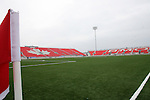 27 April 2007: A view diagonally across the field from the northwest corner.  BMO Field in Toronto, Ontario, Canada on the day before it was scheduled open with the inaugural home match of Major League Soccer expansion team Toronto FC.