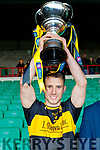 Dr Crokes captain John Payne lifts the cup after the AIB Munster GAA Football Senior Club Championship Final match between Dr. Crokes and St. Josephs Miltown Malbay at the Gaelic Grounds in Limerick on Sunday.