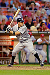 13 June 2006: Jamey Carroll, infielder for the Colorado Rockies, at bat against the Washington Nationals at RFK Stadium, in Washington, DC. The Rockies defeated the Nationals 9-2 in the second game of the four-game series...Mandatory Photo Credit: Ed Wolfstein Photo..