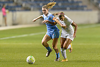 Chicago, IL - Wednesday Sept. 07, 2016: Arin Gilliland, Frances Silva during a regular season National Women's Soccer League (NWSL) match between the Chicago Red Stars and FC Kansas City at Toyota Park.