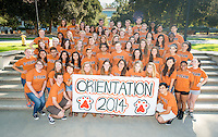 O-Team ready for 2014 Orientation. Aug. 18, 2014. (Photo by Marc Campos, Occidental College Photographer)