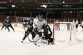 Jacob Bryson (PC - 18), Spencer Young (PC - 21) - The Providence College Friars practiced on the rink at Fenway Park on Friday, January 6, 2017.