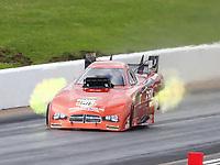 May 20, 2017; Topeka, KS, USA; NHRA funny car driver Dale Creasy Jr during qualifying for the Heartland Nationals at Heartland Park Topeka. Mandatory Credit: Mark J. Rebilas-USA TODAY Sports