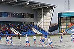Oldham attack in front of The North Stand. Oldham v Portsmouth League 1
