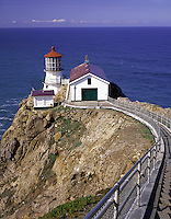 Point Reyes National Seashore, CA<br /> Point Reyes Lighthouse (1870) and walkway
