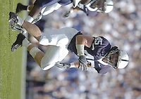 01 September 2007:  Penn State LB Sean Lee (45)..The Penn State Nittany Lions defeated the Florida International Golden Panthers 59-0 September 1, 2007 at Beaver Stadium in State College, PA..