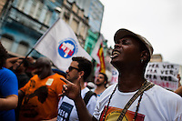 A protester screams during the anti-local government march in Salvador, Bahia, Brazil, 1 February 2012.