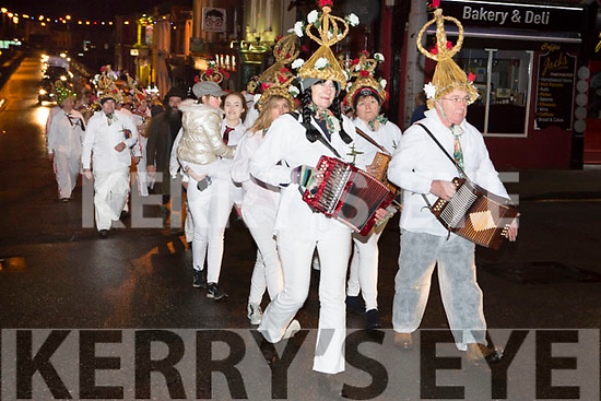 The St Bridget parade  marching at the Biddy festival in Killorglin Saturday night