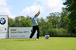 Thomas Norret (DEN) tees off on the 6th tee during Day 3 of the BMW Italian Open at Royal Park I Roveri, Turin, Italy, 11th June 2011 (Photo Eoin Clarke/Golffile 2011)