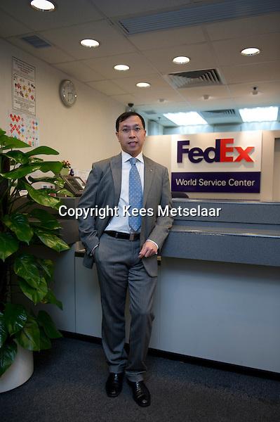 Hong Kong, 17 jan 2012  Melvin Yan, Managing Director- CFO FedEx Express.  Photo Kees Metselaar