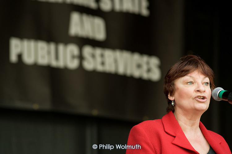 Christine Blower, NUT General Secretary, Protect our Welfare State and Public Services march called by the National Pensioners Convention, London