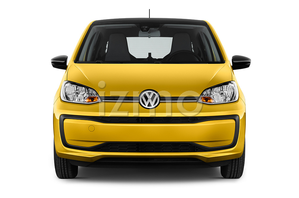 Car photography straight front view of a 2017 Volkswagen UP Move-up 5 Door Hatchback Front View