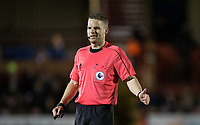 Referee Christoper Pollard during the Under 23 Premier League 2 match between Chelsea U23 and Leicester City U23 at the Electrical Services Stadium, Aldershot, England on 2 February 2018. Photo by Andy Rowland / PRiME Media Images.