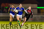 David Moran Kerry in action against Shane Nally Mayo in the National Football league at Austin Stack Park, Tralee on Saturday night.