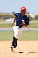Rashad Hatcher of the Gulf Coast League Nationals during the game against the Gulf Coast League Mets June 27 2010 at the Washington Nationals complex in Viera, Florida.  Photo By Scott Jontes/Four Seam Images