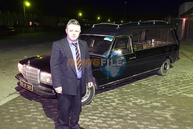 John Reilly undertaker from Rathmullen Park Drogheda.Pic Fran Caffrey Newsfile.©Newsfile Ltd.
