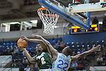 January 20, 2016 - Colorado Springs, Colorado, U.S. -  Colorado State forward, Emmanuel Omogbo #2, works for a basket against Air Force guard, Pervis Louder #22, during an NCAA basketball game between the Colorado State University Rams and the Air Force Academy Falcons at Clune Arena, United States Air Force Academy, Colorado Springs, Colorado.  Colorado State defeats Air Force 83-79.