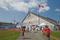 Gulf of Georgia Salmon Cannery Museum at Steveston on the Frazer River near Richmond, British Columbia, Canada. Tourist get a glimpse of early commercial fisheries activity at the former cannery.