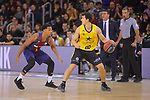 League ACB-ENDESA 2017/2018 - Game: 11.<br /> FC Barcelona Lassa vs Iberostar Tenerife: 91-93.<br /> Phill Pressey vs Rodrigo San Miguel.