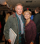 Cheshire, CT- 111117MK16 (from left) Tony Falcone and Judi Andrews  gathered during the Ball and Socket Arts launch of their Bricks and Glass $2 million capital campaign at the Waverly Inn in Cheshire on Saturday night Michael Kabelka / Republican-American