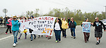 Residents of Red Head in Saint John protest the Energy East Pipeline tank Terminal. On May 30, 2015, over 500 Canadian citizens and First Nations marched in Red Head, Saint John, at the End of the Line for the proposed Energy East pipeline. The people were protesting the proposed mega pipeline and the tank terminal that would destroy and the Red Head community and endanger the Bay of Fundy. If approved, TransCanada's Energy East pipeline would travel 4600km from Alberta to Saint John, New Brunswick, shipping 1.1 million barrels of crude oil and bitumen for export through the Bay of Fundy, a critical habit for Right whales and home to thousands of jobs in Tourism and Fishing.