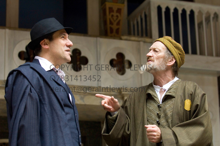 The Merchant of Venice by William Shakespeare directed by Rebecca Gatward. With Dale Rapley as Antonio , John McEnery as Shylock. Opens at the Shakespeare's Globe Theatre  12/6/07   CREDIT Geraint Lewis
