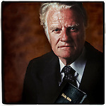 The Rev. Billy Graham was born on a North Carolina dairy farm and grew to as an evangelist to preach to more people around the world than any other person in history..He has won the Presidential Medal of Freedom and councilled numerous U.S.Presidents and world leaders.