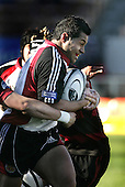 Niva Ta'auso tries to break the Canterbury defence during the Ranfurly Shield challenge against Canterbury at Jade Stadium on the 10th of September 2006. Canterbury won 32 - 16.
