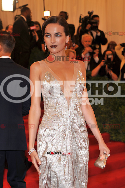 Camilla Belle at the 'Schiaparelli And Prada: Impossible Conversations' Costume Institute Gala at the Metropolitan Museum of Art on May 7, 2012 in New York City. © mpi03/MediaPunch Inc.