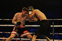 Tommy Ward defeats Tom Tran via first round stoppage` during a Boxing Show at the Metro Radio Arena on 13th October 2018