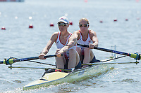 Brandenburg. GERMANY. GBR W2-, Bow Helen GLOVER and Heather STANNING.<br /> 2016 European Rowing Championships at the Regattastrecke Beetzsee<br /> <br /> Friday  06/05/2016<br /> <br /> [Mandatory Credit; Peter SPURRIER/Intersport-images]