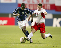 DaMarcus Beasley during the USA vs Poland match in the 2002 World Cup in South Korea.