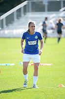 Kansas City, MO - Sunday September 04, 2016: Heather O'Reilly prior to a regular season National Women's Soccer League (NWSL) match between FC Kansas City and the Sky Blue FC at Swope Soccer Village.