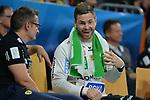Rhein Neckar Loewe Andreas Palicka (Nr.12)  beim Spiel in der Champions League, Rhein Neckar Loewen - Montpellier HB.<br /> <br /> Foto &copy; PIX-Sportfotos *** Foto ist honorarpflichtig! *** Auf Anfrage in hoeherer Qualitaet/Aufloesung. Belegexemplar erbeten. Veroeffentlichung ausschliesslich fuer journalistisch-publizistische Zwecke. For editorial use only.