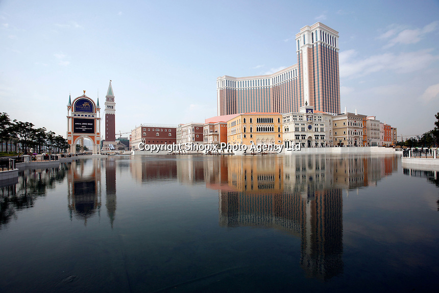 The Venetian Macau Resort Hotel, opened on 28th August 2007 in Macau, China. The integrated resort contains the Worlds' largest casino, with over 800 gaming tables and some 4000 slot machines..