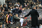 Real Madrid's coach Jose Mourinho signs autographs during UNICEF match. December, 29 2010. (ALTERPHOTOS/Alvaro Hernandez)