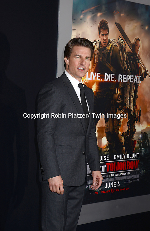 """Tom Cruise attends the """"Edge of Tomorrow"""" New York Fan Premiere on May 28, 2014 at the AMC Lincoln Square Theatre in New York City."""