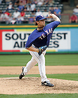 Texas Rangers P CJ Wilson against the Seattle Mariners on May 14th, 2008 at Texas Rangers Ball Park in Arlington, Texas. Photo by Andrew Woolley .