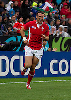 Rugby World Cup Hamilton Wales v Fiji  Pool D 02/10/2011.Jamie Roberts  (Wales)    .Photo Mike Frey Fotosports International/AMN