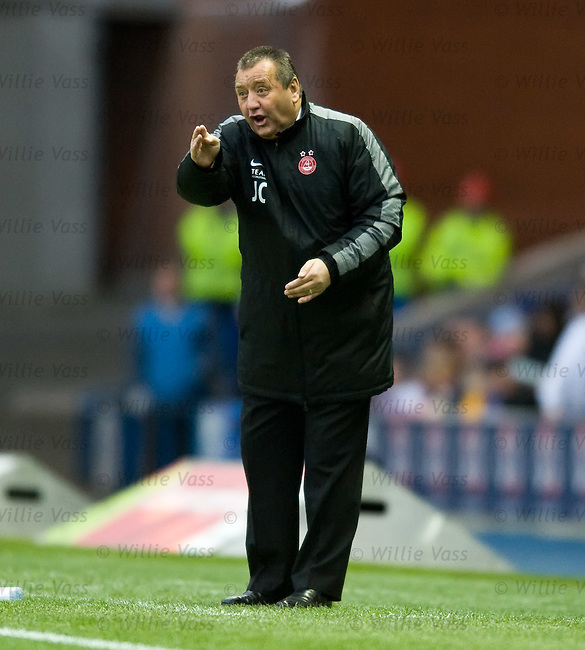 Jimmy Calderwood shouting from the touchline