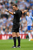 Referee Chris Kavanagh<br /> <br /> Photographer David Horton/CameraSport<br /> <br /> The Premier League - Brighton and Hove Albion v West Bromwich Albion - Saturday 9th September 2017 - The Amex Stadium - Brighton<br /> <br /> World Copyright &copy; 2017 CameraSport. All rights reserved. 43 Linden Ave. Countesthorpe. Leicester. England. LE8 5PG - Tel: +44 (0) 116 277 4147 - admin@camerasport.com - www.camerasport.com