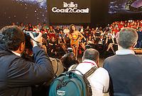 NAPOLI RAI PRIMA PUNTATA DELLA TRASMISSIONE TELEVISIVA ITALIA COAST2COAST.NELLA FOTO LAURA BARRIALES.FOTO CIRO DE LUCA