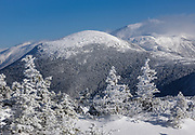 Appalachian Trail - Mount Eisenhower from Crawford Path in the White Mountains, New Hampshire USA.