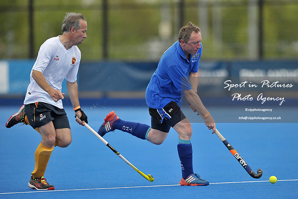 NICHOLSON Stuart (Timperley) and LANGLEY Peter (Formby). Timperley v Formby (Men's Over 50's Trophy Final). Pitch 2. Men's Knockout Finals 2017. Lee Valley Hockey and Tennis Centre. London. UK. 29/04/2017. ~ MANDATORY CREDIT Garry Bowden/SIPPA - NO UNAUTHORISED USE - +44 7837 394578
