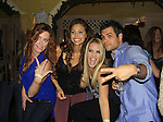 OLTL Melissa Archer and General Hospital Lindsey Morgan, Kristen Alderson and Erik Valdez dance at SoapFest's Celebrity Weekend - Celebrity Karaoke Bar Bash - autographs, photos, live auction raising money for kids on November 10, 2012 at Bistro Soleil at Old Historic Marco  Island, Florida. (Photo by Sue Coflin/Max Photos)