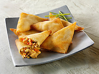 Traditional chinese samosas