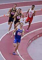 NWA Democrat-Gazette/BEN GOFF @NWABENGOFF<br /> Runners compete in the college 800 meter run Friday, Feb. 10, 2017 while competing in the pole vault invitational during the Tyson Invitational at the Randal Tyson Track Complex in Fayetteville.