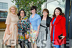 l-r Mary Stapleton Foley, Cathy Troth, Tara Donoghue, Margaret Donoghue and Mary O'Donnell. at Fashion Soirée Ladies Day Fashion and Autumn Winter 2015 Collection In aid of Kerry Cancer Support Group at Manor West Hotel on Friday