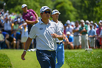 Hideki Matsuyama (JPN) heads down 6 during 3rd round of the 100th PGA Championship at Bellerive Country Club, St. Louis, Missouri. 8/11/2018.<br /> Picture: Golffile | Ken Murray<br /> <br /> All photo usage must carry mandatory copyright credit (&copy; Golffile | Ken Murray)